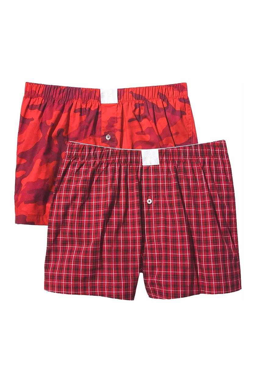 Men's Airsoft Touch 2 Woven Boxer, Red Combo