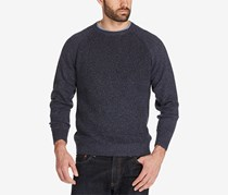 Men's Knit Crew Neck Pullover Sweater, Navy