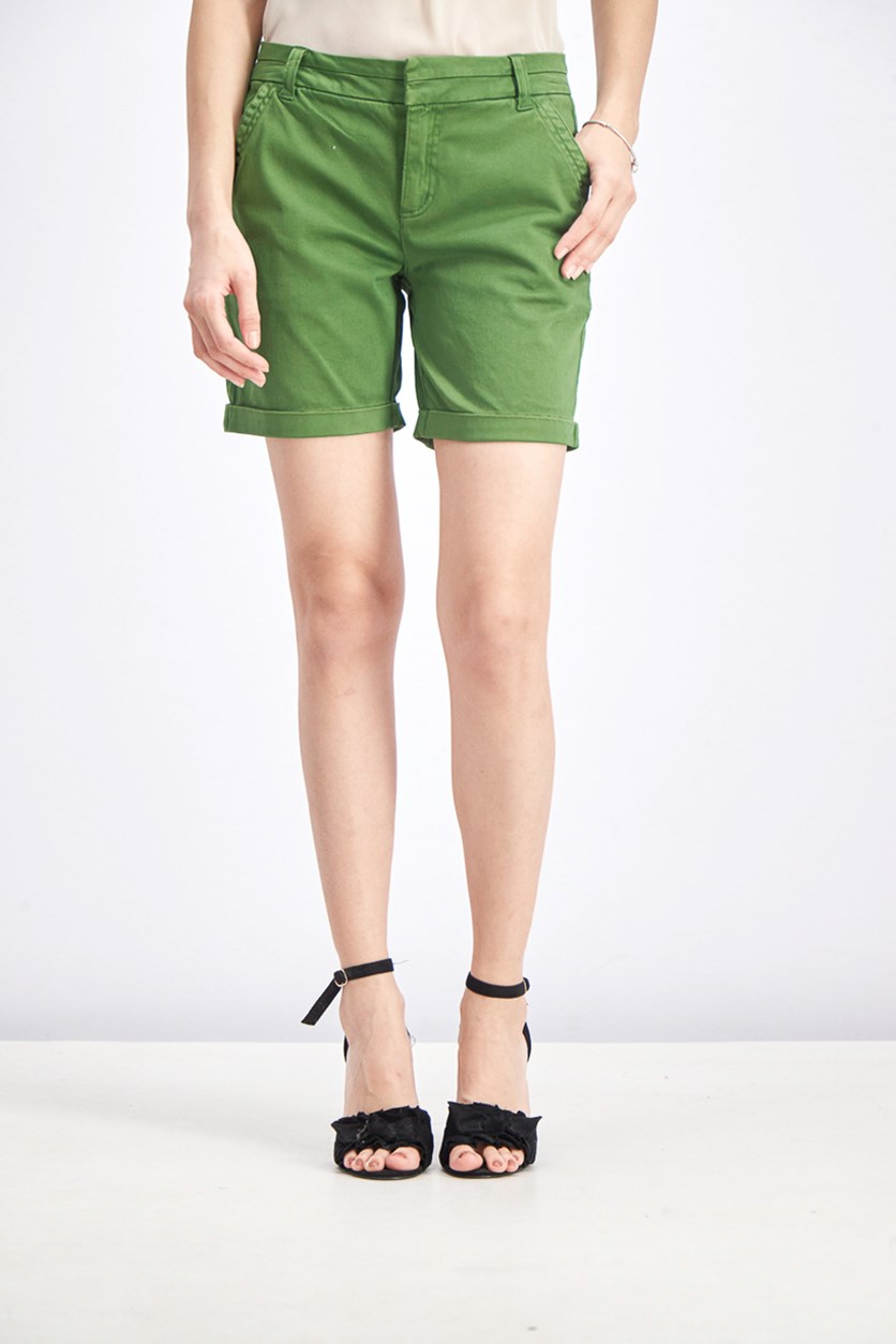 Women's Millicent Cuffed Bermuda Short, Green