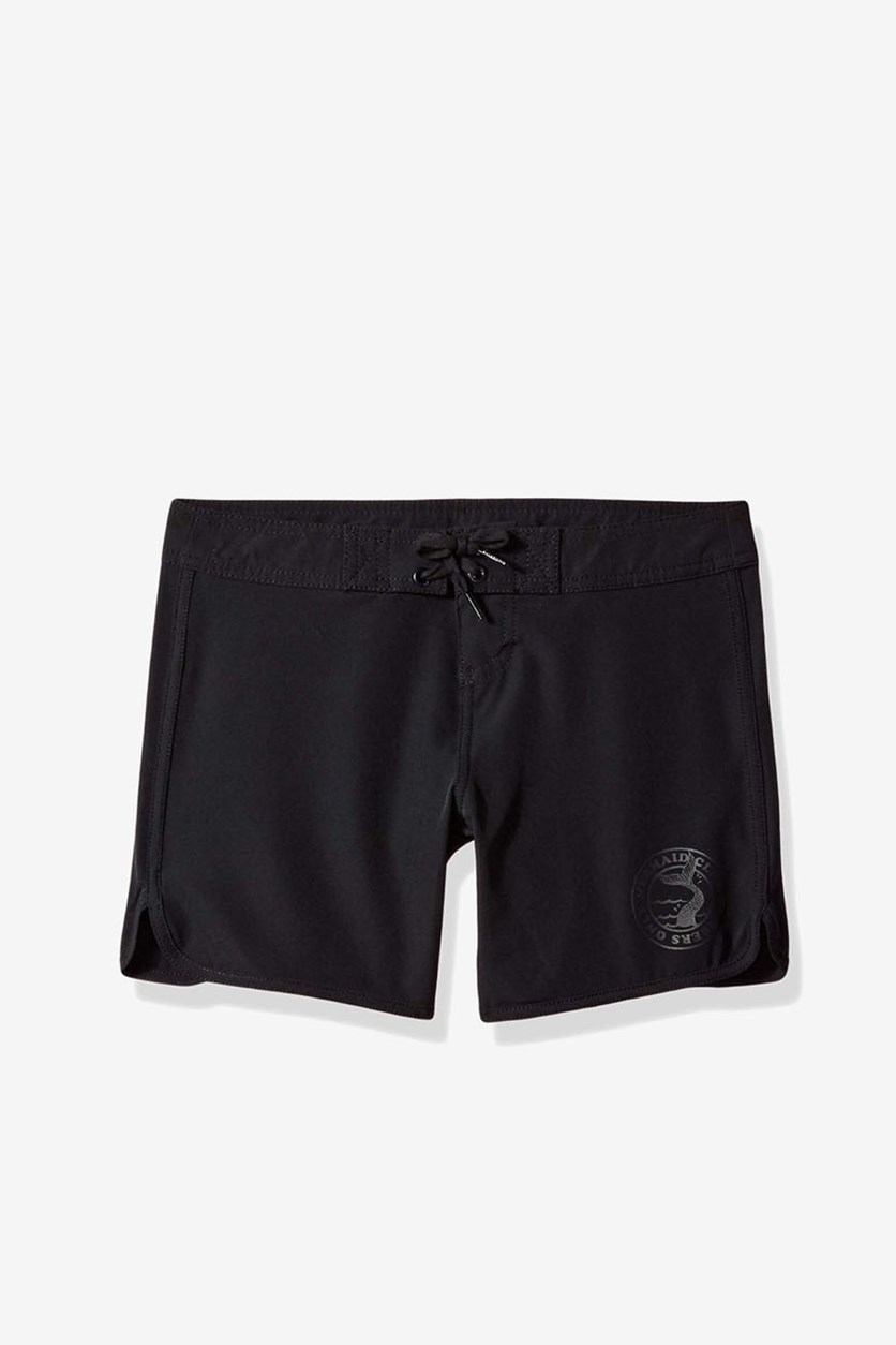 Kids Girls Sol Searcher 5 Board Short, Black