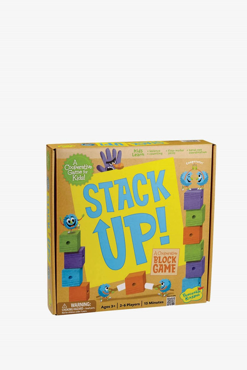 Kid's Board Game Stack Up!, Blue/Orange/Purple/Yellow/Green