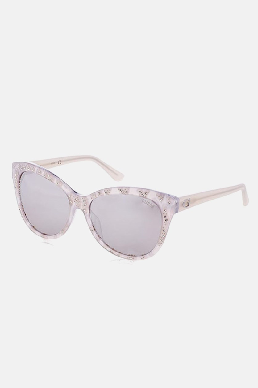 Women's GU7437 Fashion Sunglasses, Silver