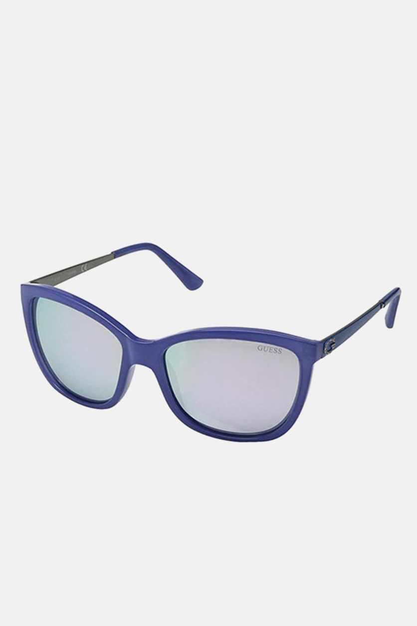 Women's GU7444 Fashion Sunglasses, Blue