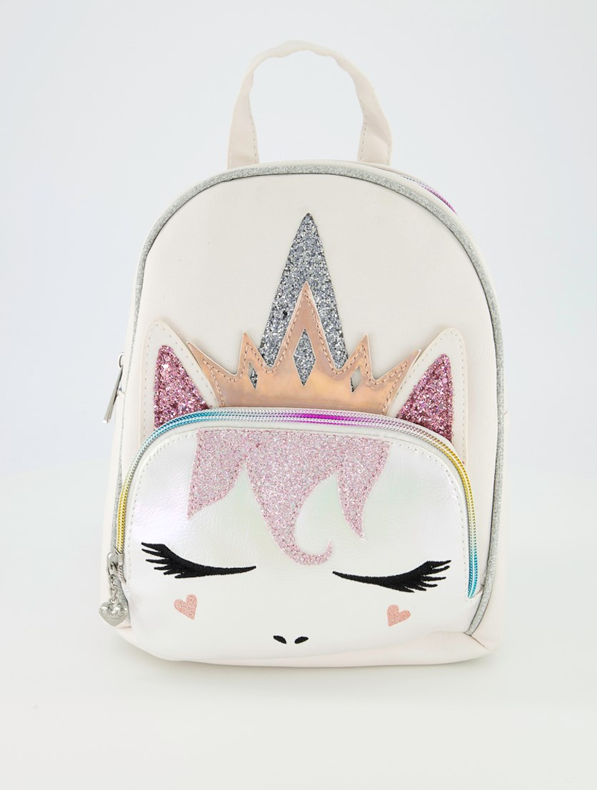 Girl's Regal Unicorn With Metallic Face, Light Pink