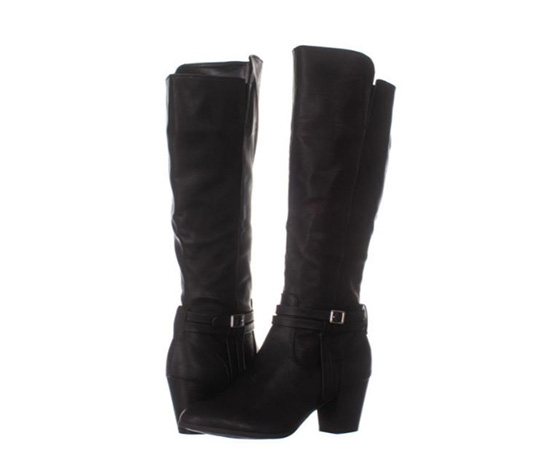 Style & Co Women's Jalenaap Boots, Black Smooth
