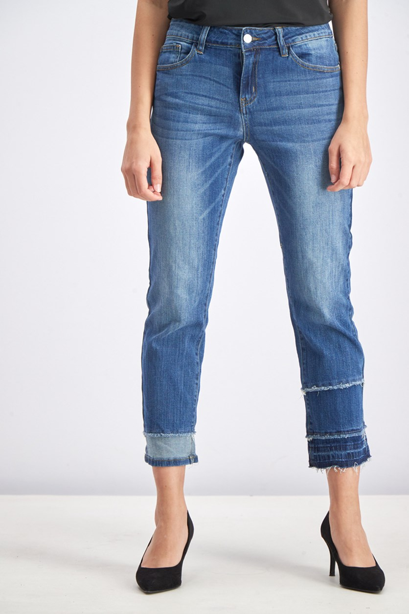 Women's Five Pocket Jeans, Denim Blue