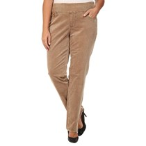 Jag Women's Plus Size Corduroys Pull-on Stretch Pants, Toffee