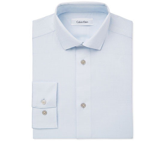 Calvin Klein Boy's Solid Shirt, Light Blue