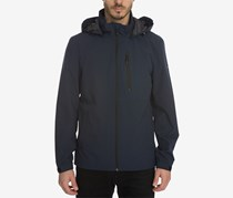 Perry Ellis Men's Stretch Wind and Rain Slicker, Navy