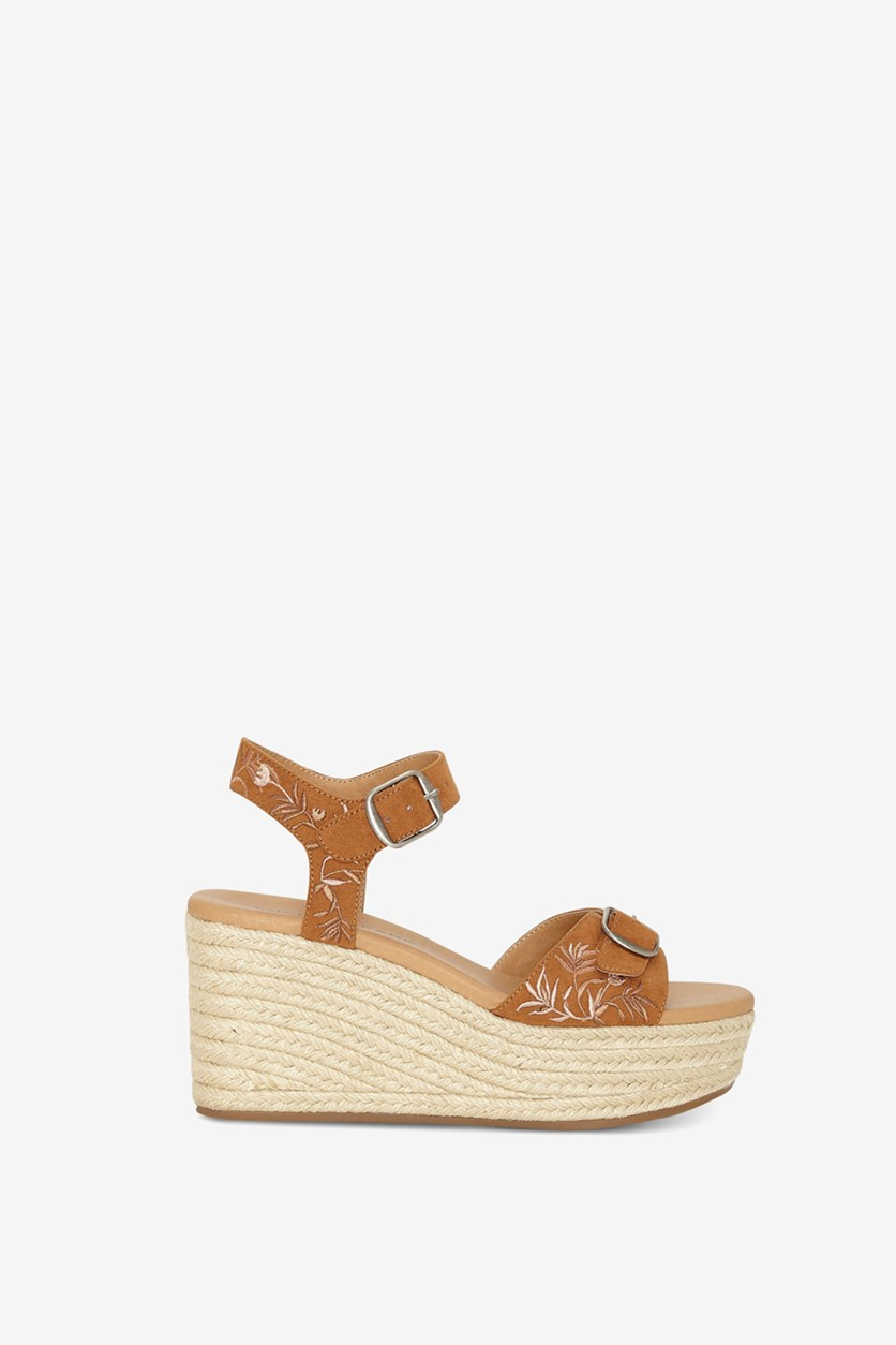 Womens Naveah 2 Wedge Sandals, Peanut