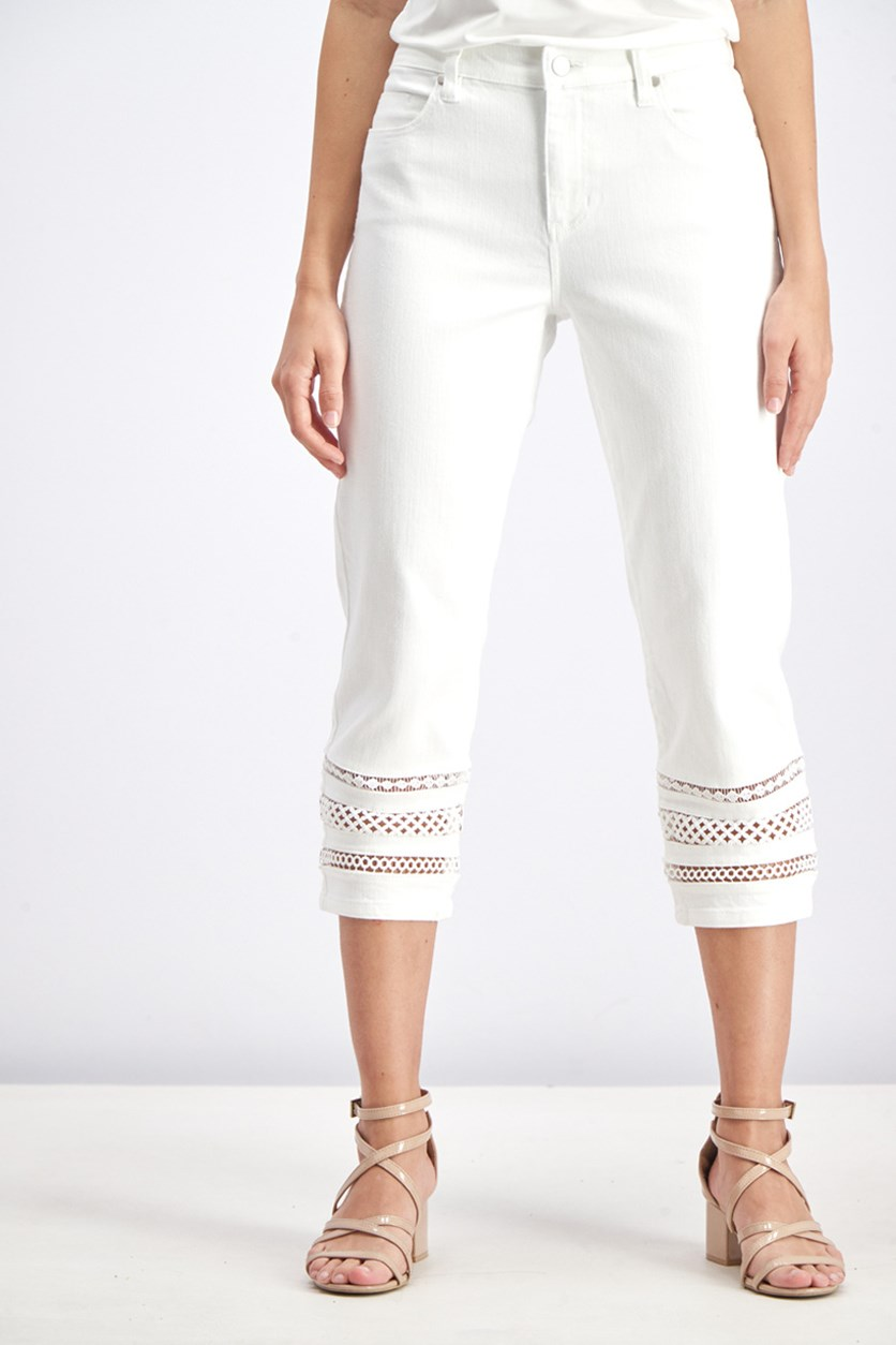 Women's Crop Ankle Jeans, White