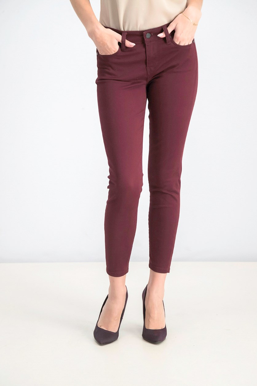 Women's Skinny Pants, Maroon
