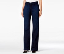 Nydj Teresa Paris Nights Wash Flare-Leg Jeans, Blue
