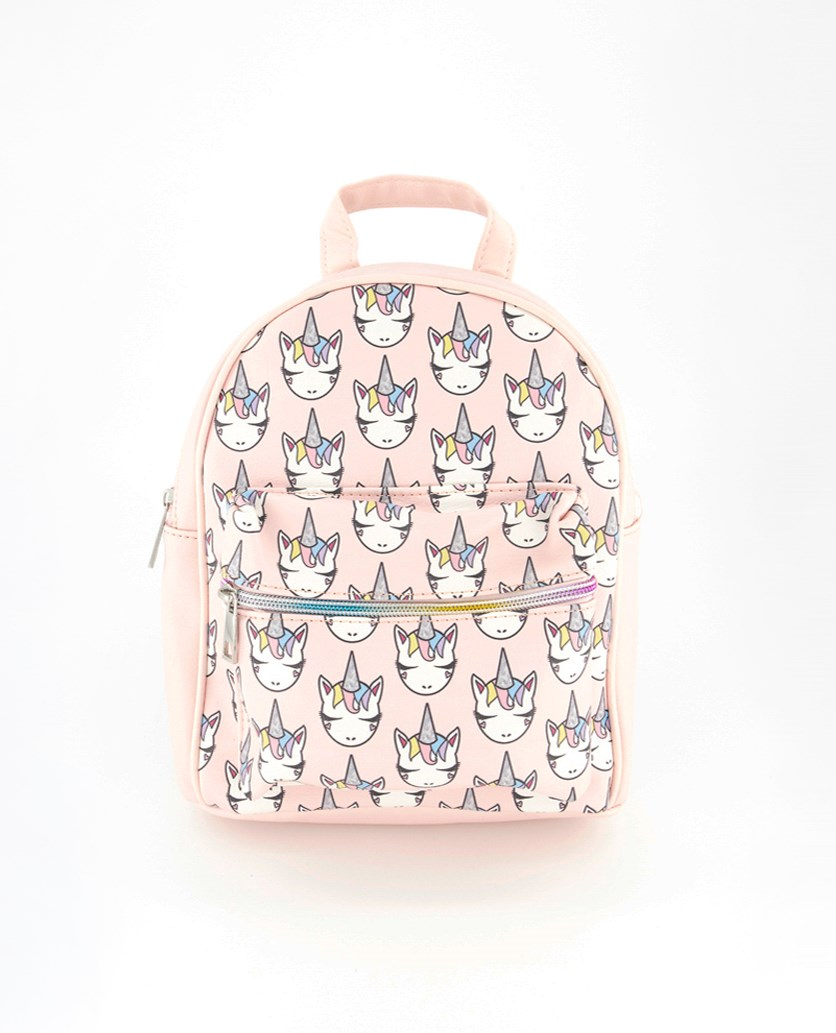 Girl's Mini Bag Unicorn Face, Pink