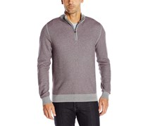 Cutter & Buck Men's Long Sleeve Twin Falls Half-Zip Sweater, Alchemy Heather
