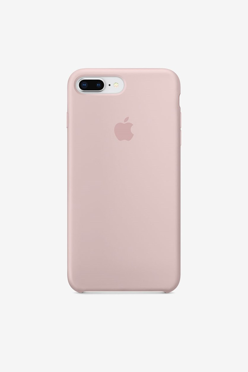 Iphone 8 Plus Silicone Case, Pink Sand