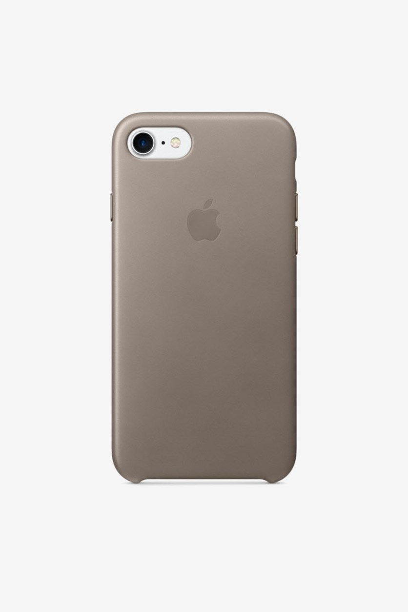 Iphone 8 Leather Case, Taupe