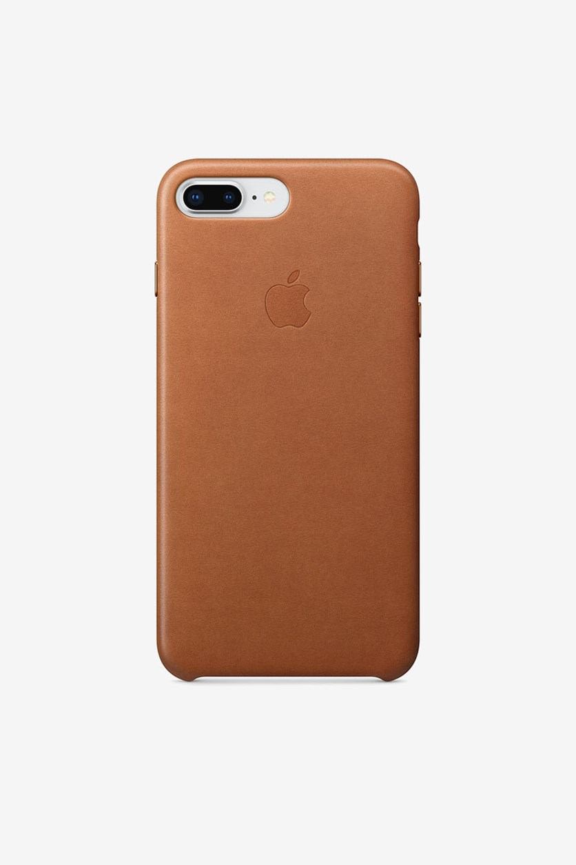 Iphone 8 Plus Leather Case, Saddle Brown