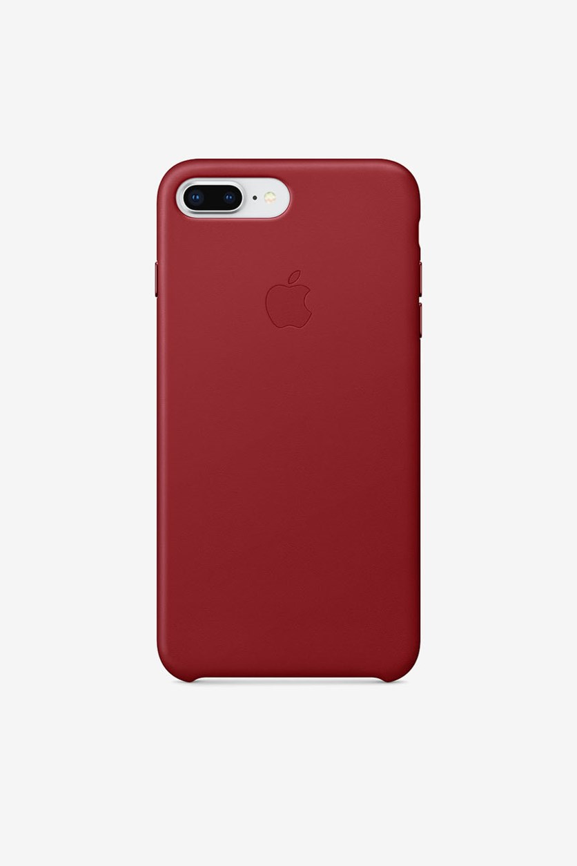 Iphone 8 Plus Leather Case, Red