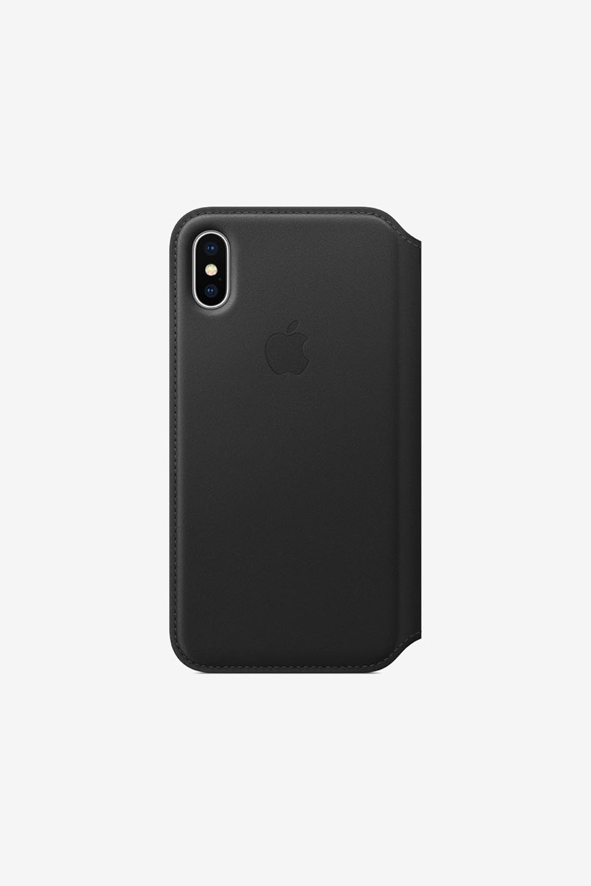 Iphone X Leather Folio, Black