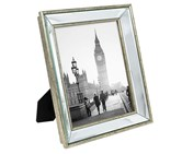 Isaac Jacobs Beveled Mirror Picture Frame, Silver