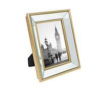 Isaac Jacobs Gold Beveled Mirror Picture Frame, Gold