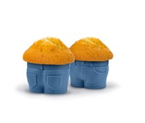 Fred Muffin Tops Baking Cups Set of 4, Navy
