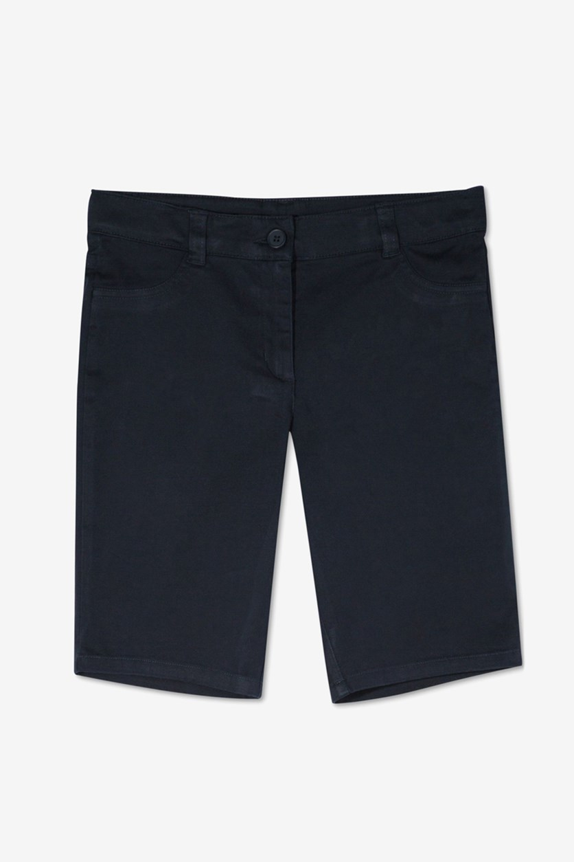 Big Girls Skinny Bermuda Short, Navy