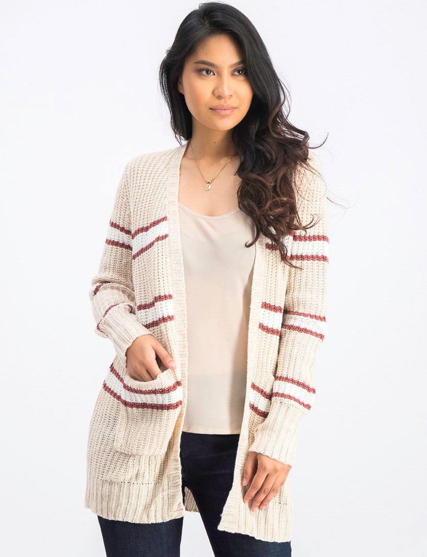 Women's Polly Two Pocket Cardigan, Oatmeal/Clay