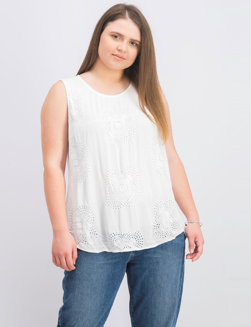 Women's Sleeveless Tops, White