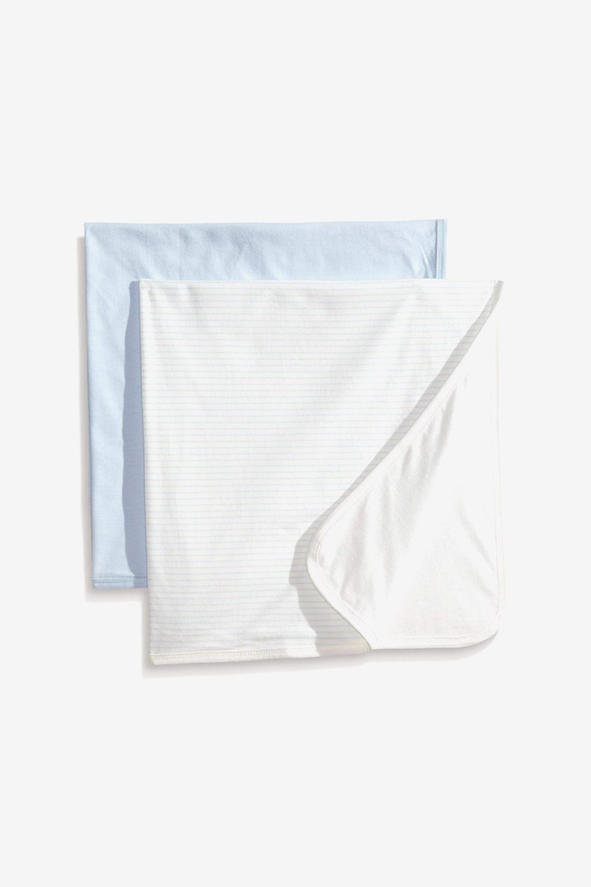 Toddler's 2-Pieces Blanket, Blue/White