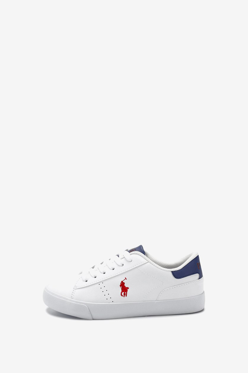 Boy's Pierce Shoes, White/Royal/Red
