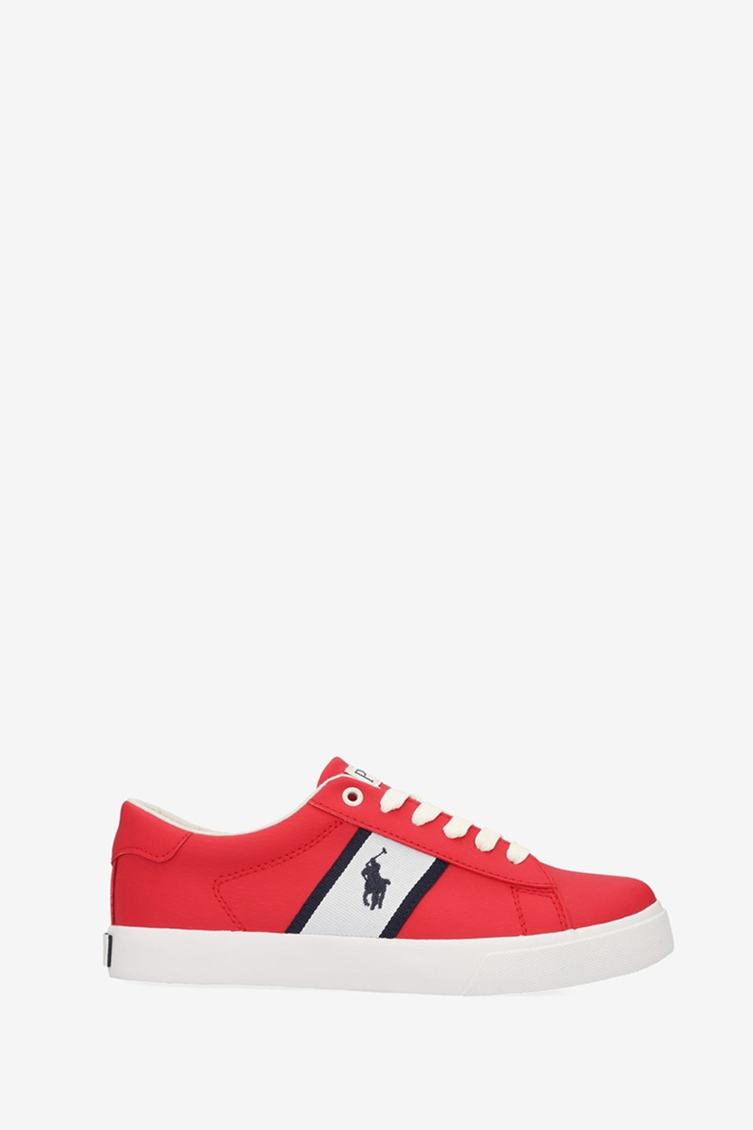 Boy's Geoff Shoes, Red/White/Navy