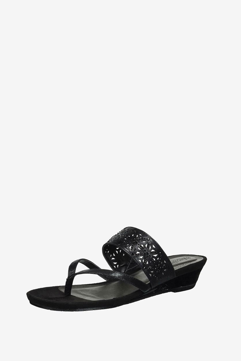 Women's Great Chime Wedge Sandal, Black