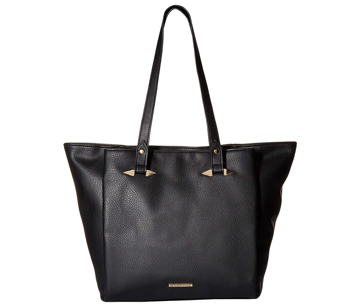 Rampage Women's Tote with Handle Hardware, Black