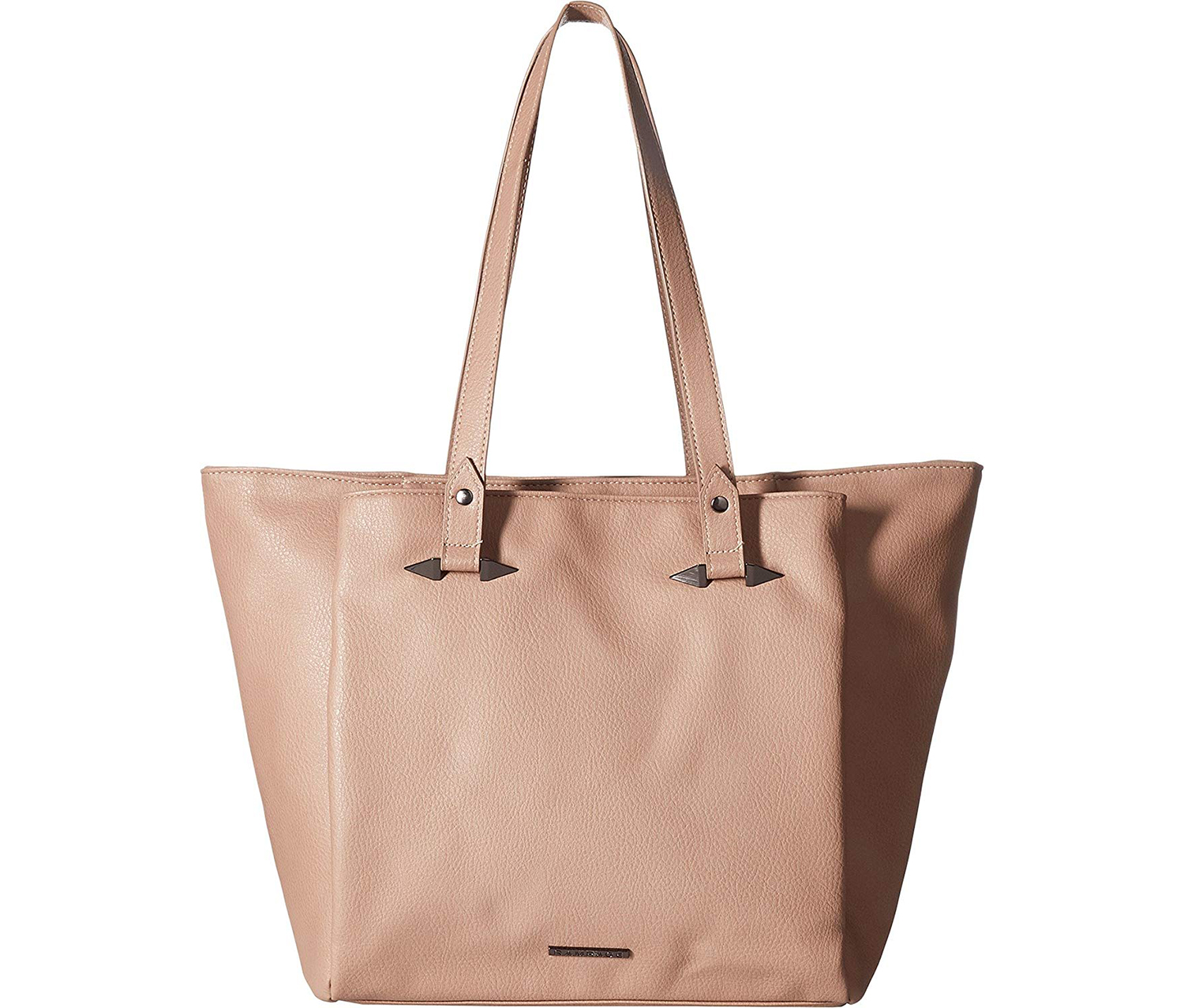 Rampage Women's Tote with Handle Hardware, Mauve