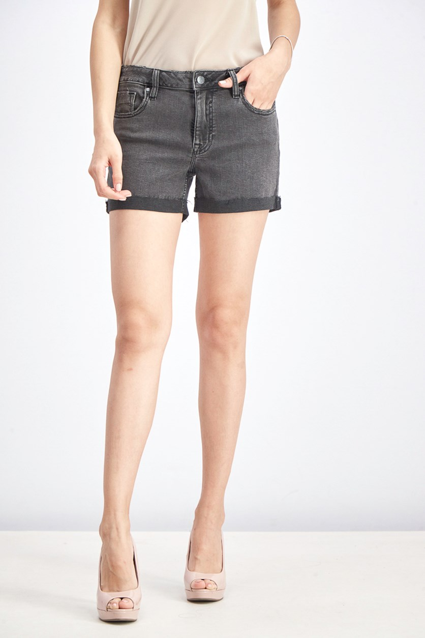 Women's MArley Mid Rise Short, Wash Black