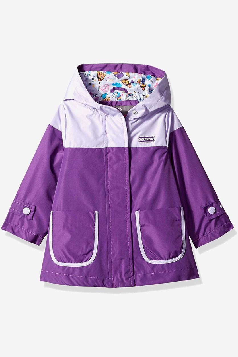 Toddler Girls Rainslicker Rain Jacket, Purple