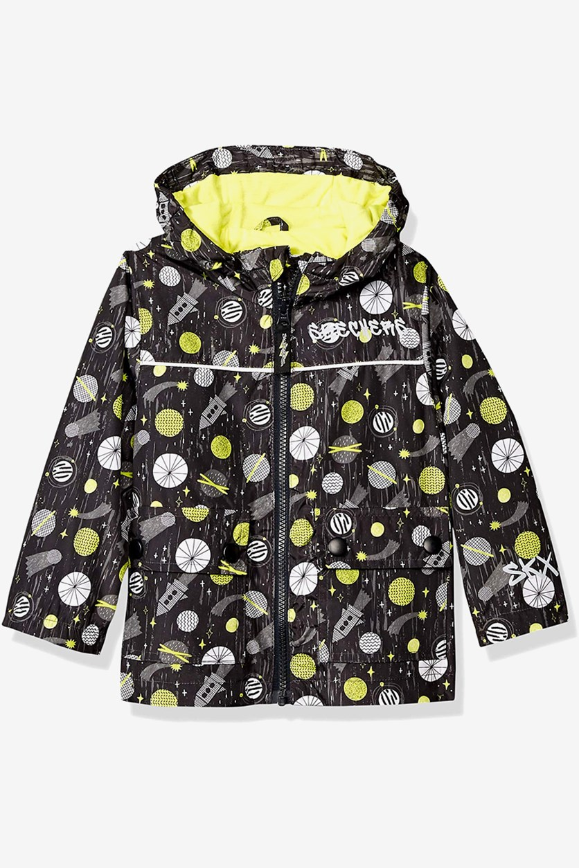 Toddler Boys Rainslicker Rain Jacket, Black