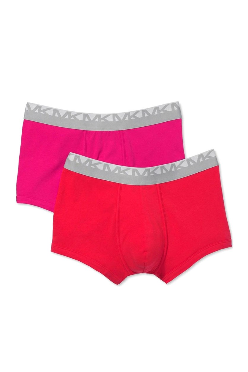 Men's Stretch Factor Boxer Briefs 2-Pack, Red/Pink
