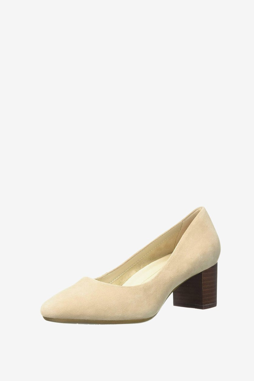 Women's Silver Star Pump, Bone Suede