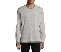 Tommy Bahama Sea Glass Reversible Long Sleeve T-Shirt, Gray