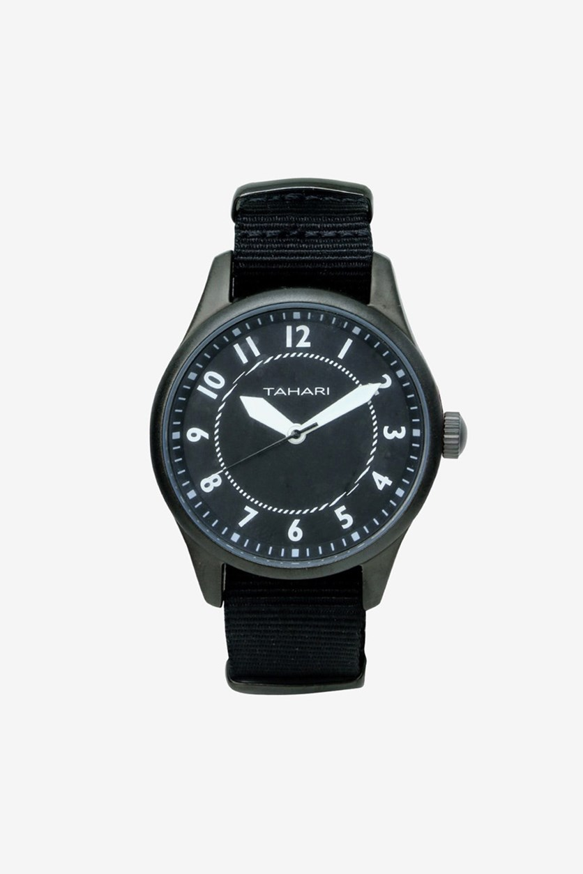 Men's Nano Strap Analog Watch, Black