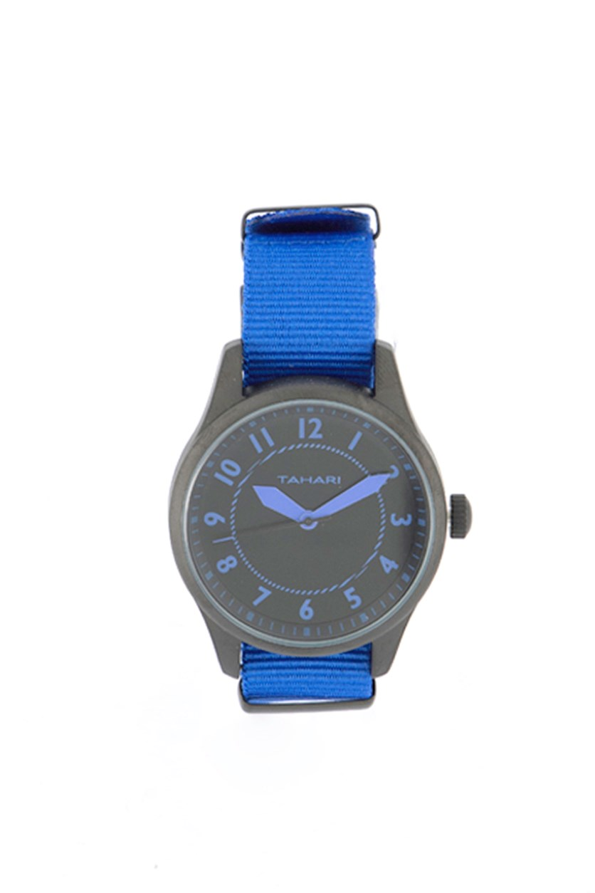 Men's Nato Strap Analog Watch, Blue/Black