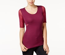 Guess Women's  Daphne Mesh-Contrast Top, Purple