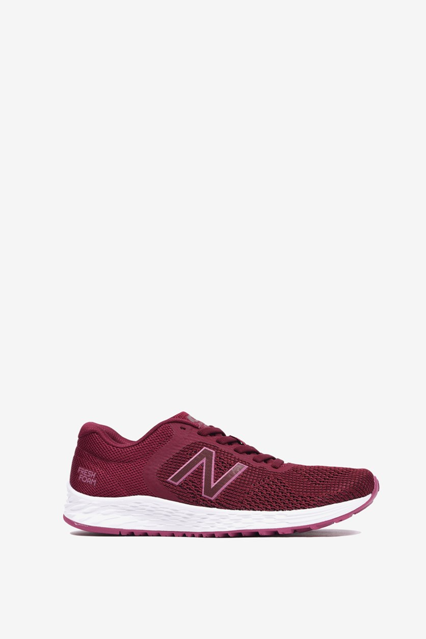 Women's Running Knit Shoes, Burgundy