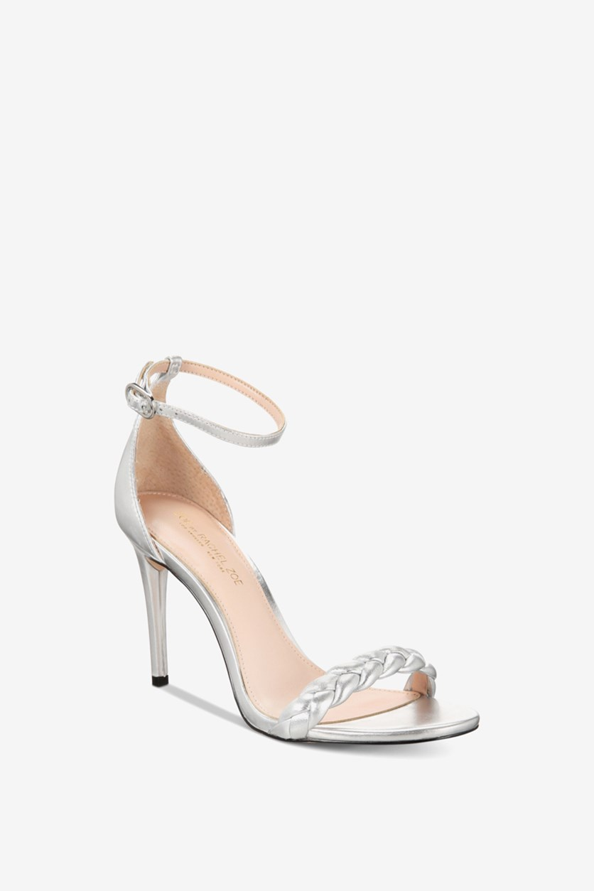 Women's Ankle Strap Sandals, Silver