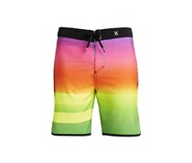 Hurley Men's Swim Shorts, Pink/Orange/Green