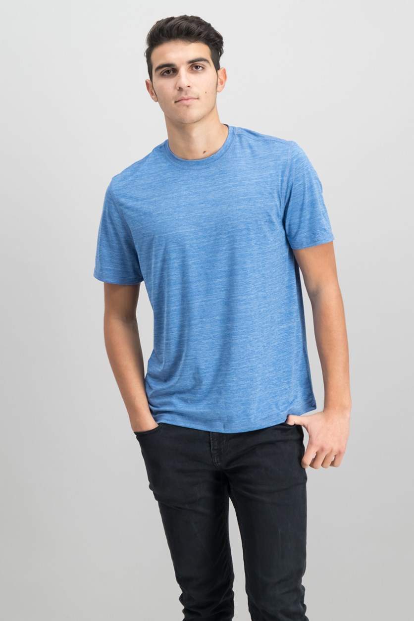 G.H. Bass Co. Mens White Water Space-Dyed T-Shirt, True Blue Heather