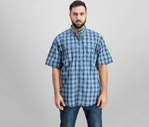 G.H. Bass Co. Mens Explorer Fancies Yarn Dy Shirt,  Mood Indigo